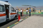 اعزام ۲ بیمار توسط بالگرد اورژانس