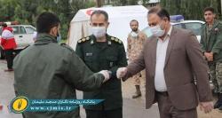 نیروهای سپاه و بسیج، تا ریشه کن شدن کامل این ویروس، در کنار مردم خواهند ماند+تصاویر