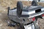 ۱ کشته و ۱ مجروح بر اثر واژگونی خودرو در مسیر مسجدسلیمان- گلگیر