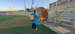 ورزشگاه شهید بهنام محمدی مسجدسلیمان ضدعفونی شد+ عکس