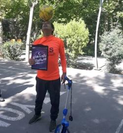 افتخار آفرینی های حسین عالی محمدی تمامی ندارد/ شکستن رکورد دو صدمتر همراه با هد زدن در ۲۹ ثانیه توسط فرزند نیک مسجدسلیمان + تصاویر