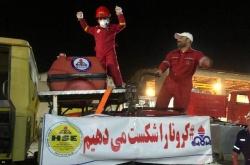 تداوم عملیات گندزدایی و ضدعفونی کردن خیابان های شهرستان مسجدسلیمان با خودروهای طراحی شده توسط شرکت نفت مسجدسلیمان + تصاویر