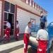 اهدای کپسول اکسیژن توسط جمعیت هلال احمر برای بیماران کرونایی در مسجدسلیمان
