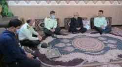 دیدار فرمانده انتظامی شهرستان مسجدسلیمان با خانواده شهید
