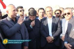گزارش تصویری از آیین کلنگ زنی عملیات اجرایی چهار پروژه بزرگ در مسجدسلیمان