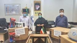 تجهیزات بهداشتی و درمانی مقابله با کرونا به بیمارستان ۲۲ بهمن مسجدسلیمان اهداء شد