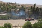 آتش سوزی در فاز ۲  منطقه هشت بنگله مسجدسلیمان + تصاویر