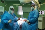 عمل جراحی شکستگی لگن بیمار مبتلا به کرونا در مسجدسلیمان