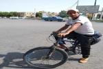حسین عالی محمدی مرحله نهم سفر خود را به یاد شهدای ورزشکار مسجدسلیمان طی کرد/ مرحله دهم از ارومیه به سنندج به نام پیشکسوتان ورزش