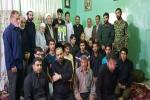 مراسم زیارت عاشورا در منزل شهید علی اسدی برگزار شد