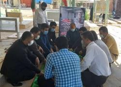 جمعی از فرهنگیان و بسیج دانش آموزی مسجدسلیمان با آرمان های شهدای والامقام تجدید میثاق کردند+ تصاویر
